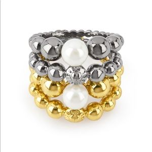 Henri Bendel stackable beaded rings